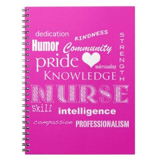 Orgullo-Cualidades/rosa de la enfermera Notebook