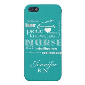 Orgullo-Cualidades/turquesa de la enfermera iPhone 5 Carcasas