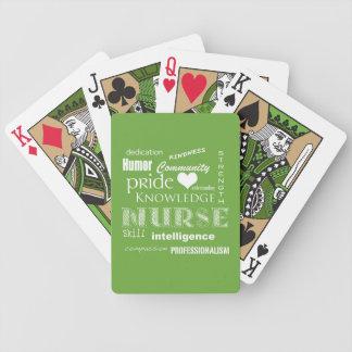 Orgullo-Cualidades/verde lima de la enfermera Baraja De Cartas