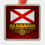 Orgullo de Alabama Adorno Navideño Cuadrado De Metal