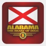 Orgullo de Alabama Pegatina Cuadrada
