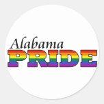 Orgullo de Alabama Pegatinas Redondas