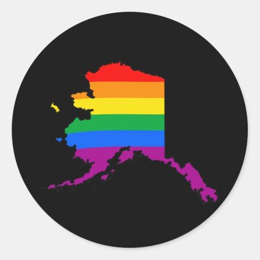 ORGULLO DE ALASKA - .PNG ETIQUETA REDONDA