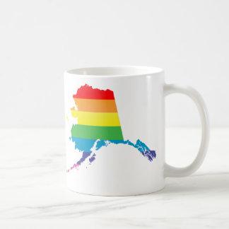 orgullo de Alaska rayado Taza De Café
