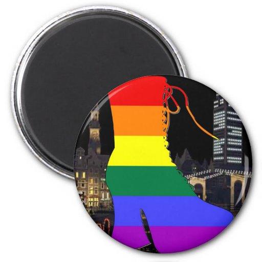 Orgullo de Amsterdam Imán Redondo 5 Cm