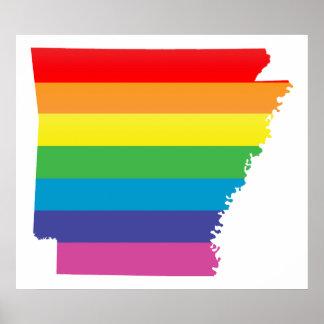 orgullo de Arkansas: rayado: Póster