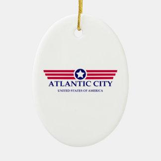 Orgullo de Atlantic City Adorno Ovalado De Cerámica
