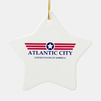 Orgullo de Atlantic City Adorno De Cerámica En Forma De Estrella