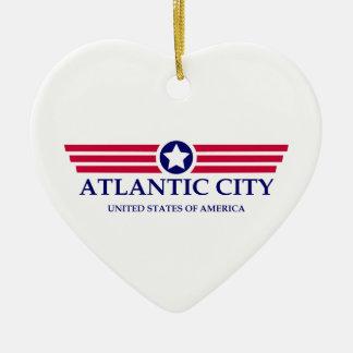 Orgullo de Atlantic City Adorno De Cerámica En Forma De Corazón