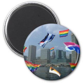 Orgullo de Baltimore Imán Redondo 5 Cm