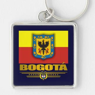 """""""Orgullo de Bogotá """" Llavero Cuadrado Plateado"""