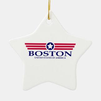 Orgullo de Boston Adorno De Cerámica En Forma De Estrella