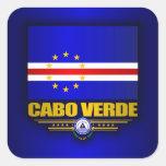 Orgullo de Cabo Verde Pegatina Cuadrada