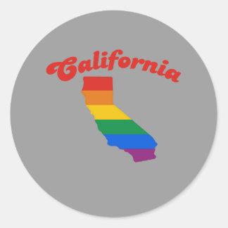 ORGULLO DE CALIFORNIA PEGATINA REDONDA