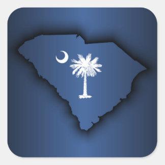 Orgullo de Carolina del Sur Pegatina Cuadrada