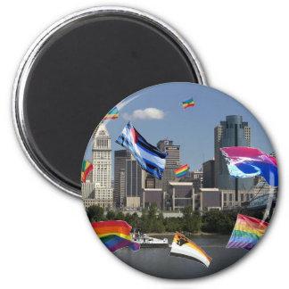Orgullo de Cincinnati Imán Redondo 5 Cm