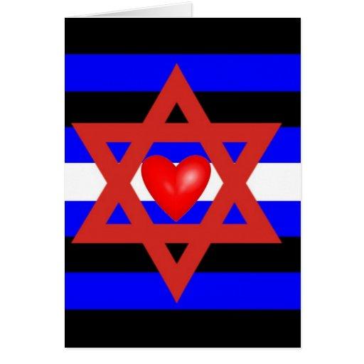 Orgullo de cuero judío tarjeta de felicitación