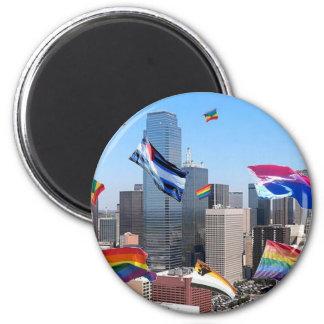 Orgullo de Dallas Imán Redondo 5 Cm