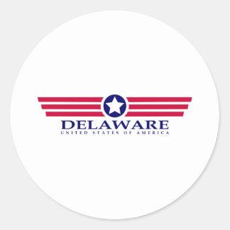Orgullo de Delaware Pegatinas Redondas