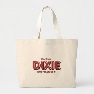 Orgullo de Dixie de la CAMISETA Bolsa Tela Grande