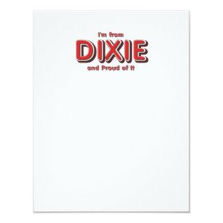 """Orgullo de Dixie de la CAMISETA Invitación 4.25"""" X 5.5"""""""