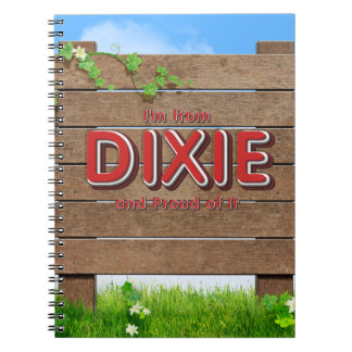 Orgullo de Dixie de la CAMISETA Libreta Espiral
