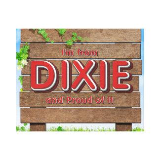 Orgullo de Dixie de la CAMISETA Lienzo Envuelto Para Galerías