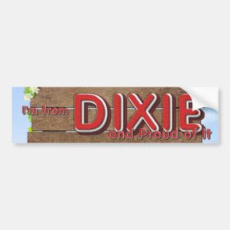 Orgullo de Dixie de la CAMISETA Pegatina Para Auto