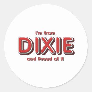 Orgullo de Dixie de la CAMISETA Pegatina Redonda