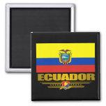 """""""Orgullo de Ecuador """" Imán Cuadrado"""