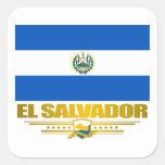 """""""Orgullo de El Salvador """" Pegatina Cuadrada"""