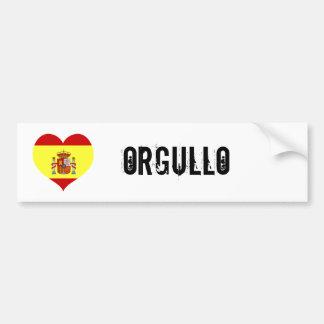 Orgullo de España Pegatina De Parachoque