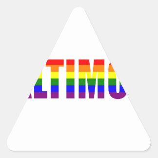 Orgullo de Galtimore Pegatina De Trianguladas
