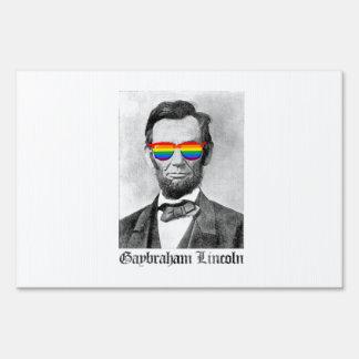 Orgullo de Gaybraham Lincoln Letreros