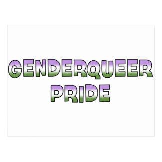Orgullo de Genderqueer Tarjetas Postales