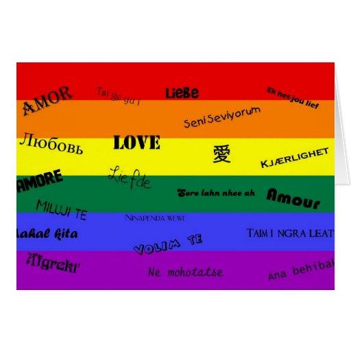 "Orgullo de GLBT: ""Amor"" en muchas idiomas Felicitacion"
