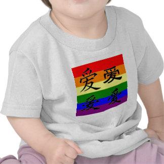 Orgullo de GLBT en símbolos chinos:  Amor Camiseta