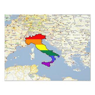 Orgullo de GLBT, Italia Invitación 10,8 X 13,9 Cm