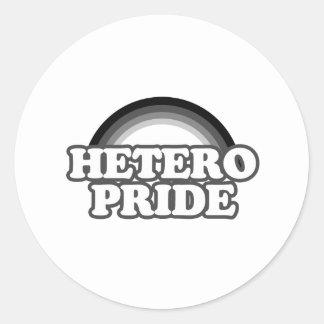 Orgullo de Hetero Pegatinas
