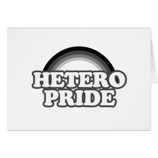 Orgullo de Hetero Tarjeta