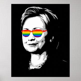 Orgullo de Hillary Clinton Póster