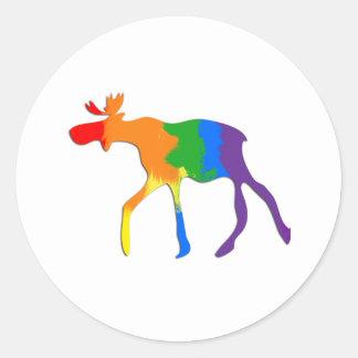 Orgullo de homosexual y lesbiana canadiense etiquetas redondas