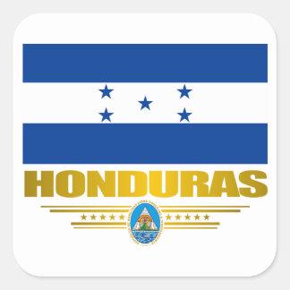 """""""Orgullo de Honduras """" Pegatina Cuadrada"""