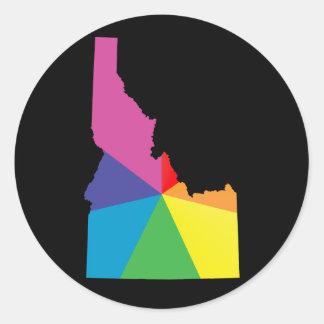 orgullo de Idaho Pegatina Redonda