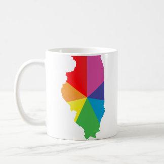 orgullo de Illinois anguloso Tazas De Café