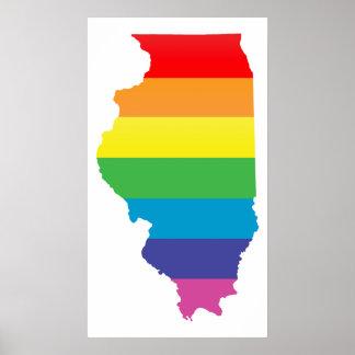 orgullo de Illinois Póster