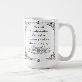 Orgullo de Jane Austen e inspiración del perjuicio Tazas