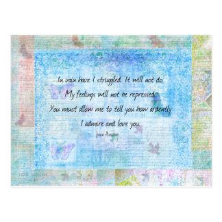 Orgullo de Jane Austen y cita del perjuicio Tarjetas Postales