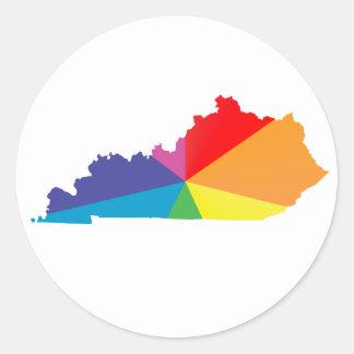orgullo de Kentucky Pegatina Redonda