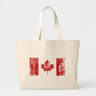 Orgullo de la bandera de Canadá Bolsa Tela Grande